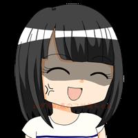 フサ美 ひきつり笑顔